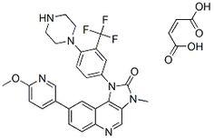 BGT226 (NVP-BGT226) is a novel phosphoinositide 3-kinase/mTOR dual inhibitor.