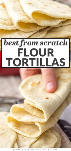 Easy Flour Tortillas From Scratch Authentic Mexican Recipes, Mexican Food Recipes, Dinner Recipes, Recipes With Flour Tortillas, Homemade Flour Tortillas, Recipe Using Tortillas, Soft Tortilla Recipe, Mexican Tortilla Recipe, Recipes