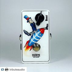 Repost @tributeaudio: Custom booster - this one is a jfet booster built with client supplied art. Sounds amazing pushing an 18watt Marshall! #boost #fxpedals #effectpedals #tributeaudio #madeincanada #fun #jfet