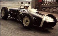 Stirling Moss, Lotus 18 (Rob Walker Racing Team), winner of the Monaco Grand Prix 1961