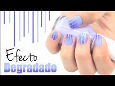 Diseño de uñas: efecto degradado. Nail art: gradient effect.