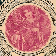 ALPHONSE MUCHA SIGNED MAGAZINE COVER LE MOIS NOVEMBER 1903 art nouveau