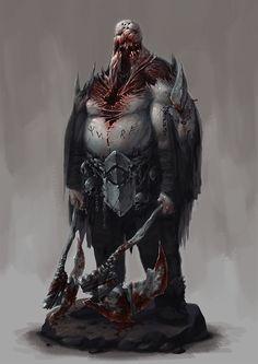 monster concept #2, Krzysztof Maziarz on ArtStation at https://www.artstation.com/artwork/zX0WZ