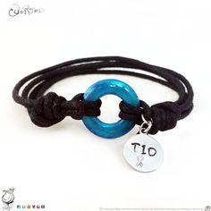 """Type 1 Diabetes Bracelet-Type One Diabetic Jewelry-Universal T1D Symbol-Blue Circle Symbolizing Type One Diabetes with 3/8"""" T1D Stamped Tag by Juxtarosed on Etsy"""