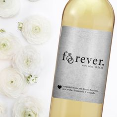Forever starts today a perfect personalized gift to give to the newlyweds. - newlywed gift - wedding gift ideas - wedding wine label - creative wedding ideas