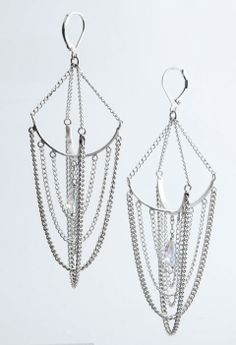 """Chandeliers"" hand fabricated sterling silver earrings by, Melanie Clarke"