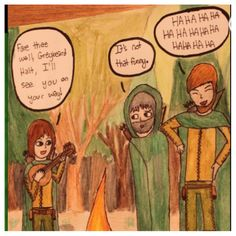 Greybeard Halt song. Will (left) Halt (middle)  Crowley(right)