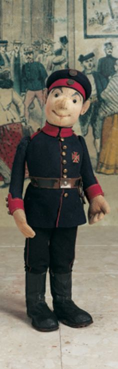 Promises of Paris: 135 Early German Cloth Soldier by Steiff