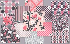 Custom Crib Bedding You Design-Bumper and Bedskirt-Its a girl thing