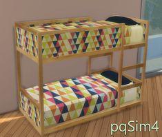 Toddler bunk beds sims 4 toddler bed recolors at sims 4 custom content toddler bunk beds Ikea Toddler Bed, Toddler Bunk Beds, Adult Bunk Beds, Small Bunk Beds, 4 Bunk Beds, Beds For Small Rooms, Toddler Cc Sims 4, Kura Ikea, Sims 4 Beds