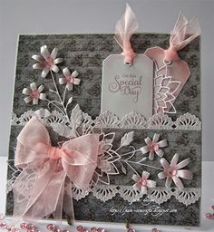 On This Special Day by Pam - shabby Wedding Anniversary Cards, Wedding Cards, Pretty Cards, Folded Cards, Creative Cards, Greeting Cards Handmade, Vintage Cards, Scrapbook Cards, Homemade Cards