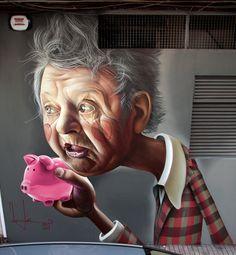 Belin é mais conhecido por seus personagens de graffiti com faces rosadas, que têm uma qualidade de arte forte. Belin é adepto a pintar murais, telas e esculturas, todas carregando seu estilo disti…