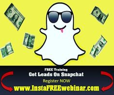 REGISTER HERE:  http://ift.tt/1h9Mt5v  Still confused about Snapchat?  Learn everything you need to know to get leads and traffic to your website from Snapchat... FREE SnapChat Lead Demo this Wednesday Night @ 9 PM EST What you'll learn:  All the In's and Out's of Snapchat to get started TODAY! What it is - Where to find it - How to download it.  Why not using this app immediately could be the most dangerous business move you make all year.  How to get Snapchat friends and followers fast and…