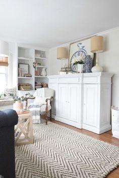 Spring Home Decor Ideas- Bright Living Room Ideas
