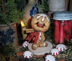 Primitive-Pattis-Ratties-Gingerbread-4-Christmas-Ornament-Doll-Bear-Artist