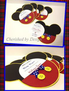 Mickey Mouse Party Invitations but I would make them Minnie Mouse:) Mickey E Minie, Fiesta Mickey Mouse, Mickey Mouse Bday, Mickey Mouse Baby Shower, Mickey Mouse Clubhouse Birthday, Mickey Mouse Parties, Mickey Party, Mickey Mouse Birthday, 3rd Birthday Parties