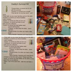 Would like to do this but a little different Father's Day basket for new daddys
