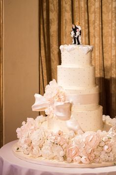 #Wedding Cake #Reception #Bride #Groom #Flowers