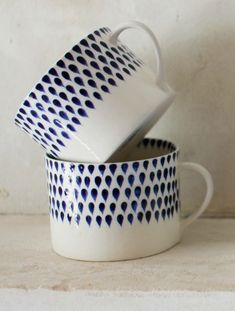 fair-trade indigo drop ceramic mugs | decorator's notebook.