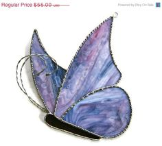 Stained Glass Butterfly Suncatcher from Nostalgianmore #etteam #purple