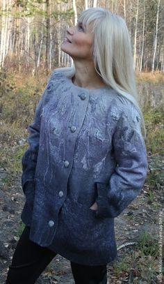 Пиджаки, жакеты ручной работы. Ярмарка Мастеров - ручная работа Жакет валяный Туманность. Handmade.
