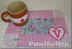 PANITCHOS, mug rug, bordado, patchwork