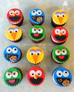 Sesame+street+cupcake+toppers+by+Taleenshop+on+Etsy,+$24.99