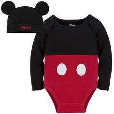 mickey mouse costume bodysuit - and little mouse ears cap!