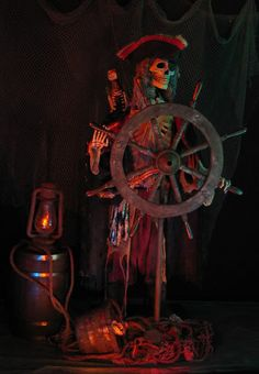Yelsir uploaded this image to 'Pirate Gallery'. See the album on Photobucket. Pirate Halloween Decorations, Pirate Halloween Party, Pirate Decor, Pirate Theme, Creepy Halloween, Outdoor Halloween, Halloween Projects, Halloween House, Holidays Halloween
