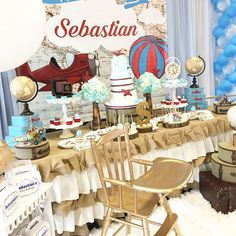 Fantastic first aviator birthday party! See more party ideas at CatchMyParty.com!