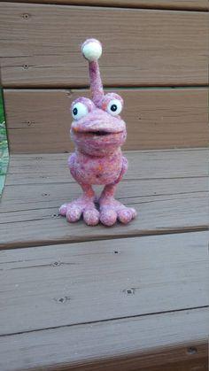 Monster Toy Needle Felted Wool Monster Pet Handmade Monster
