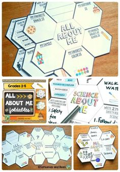 All About Me Back To School, Math and Science {FREEBIE} Great way to get to know your students during the back-to-school season. Students will love creating a mini-book with these foldab Get To Know You Activities, All About Me Activities, First Day Of School Activities, Math About Me, Writing Activities, All About Me Crafts, All About Me Art, Teaching Writing, Back To School Art