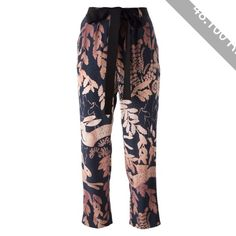 Lanvin Leaf Print Trousers