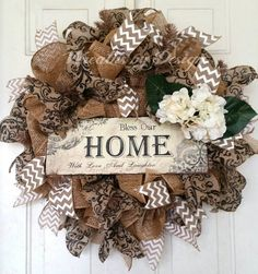 SALE  Ready to Ship Bless Our Home by WreathsbyDesign1 on Etsy