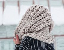 Infinity chunky scarf - knit accessories winter unisex - knitted circle scarves - knitting cowl for men and women - warm wool knitwear -gift Chunky Infinity Scarves, Chunky Knit Scarves, Circle Loom, Circle Scarf, Hand Knitting, Knitting Patterns, Nylons, Unisex, Knit Cowl
