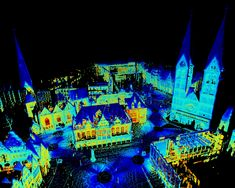 Thermal 3D Point Cloud of the City Center of Bremen