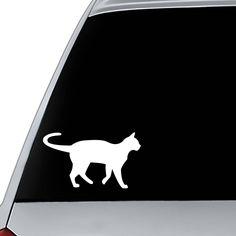Cat Vinyl Decal | Car Decal | Mug Decal | Laptop Cat Decal | Phone Decal | Cat Sticker | Car Window Decal | Computer Decal | Tumbler Decal