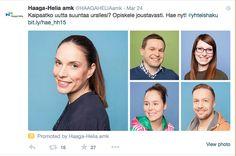 Haaga-Helian kampanja: Twitter ad