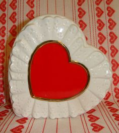 Vintage Planter Heart Shaped with eyelet by RaindropVintageShop, $12.00