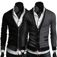 Pánsky Sivý Sveter Men Fashion, Suit Jacket, Leather Jacket, Blazer, Suits, Jackets, Man Fashion, Studded Leather Jacket, Down Jackets