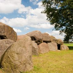 Drente, hunebed. They are the ancient tombs that were used from 3450 to around 3250 BC