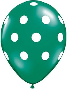 blue polka-dot latex balloon