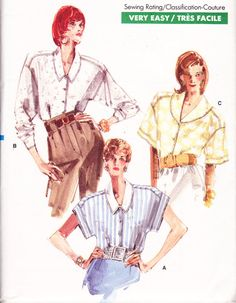 1980s Vintage Womens Sewing Pattern Vogue 7222 by Sutlerssundries, $4.99