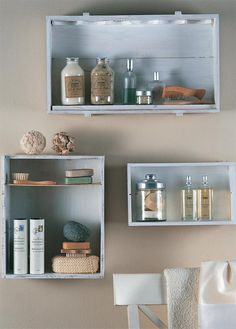 DIY Bathroom Shelving Ideas | DIY: 25 Tips For Storing Your Makeup - Fashion Diva Design