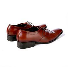 Buy Side Lace Brogue@INR 2730 - Pride's Walk #FormalShoes #MensShoes #BrownShoes #MenFormalShoes