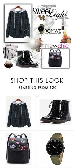 """""""Romwe 9"""" by amra-f ❤ liked on Polyvore featuring CLUSE, 7 For All Mankind, Valentino and romwe"""