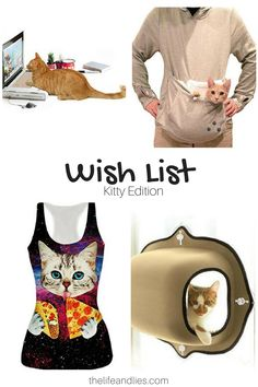 http://www.thelifeandlies.com/2017/03/my-wish-list-kitty-edition.html Today I'm sharing my #cat #wishlist with you!