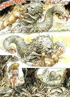 Serpieri, Mirror World Druuna Serpieri, Comic Art, Sword, Fantasy Art, Art Drawings, Mirror, Comics, Awesome, Drawings