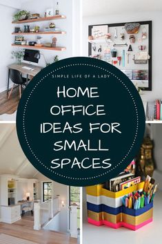 Home office ideas for small spaces - 20 ways to make the most of the space that you have!