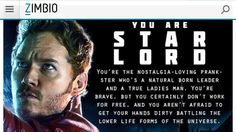 Guardians of the Galaxy personality quiz result